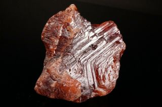 LARGE OLD Etched Spessartine Garnet Crystal PENHA DO NORTE,  BRAZIL - Ex.  Sherk 7