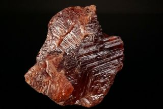 LARGE OLD Etched Spessartine Garnet Crystal PENHA DO NORTE,  BRAZIL - Ex.  Sherk 8