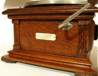 Near 1907 Victor II Phonograph w/Spear Tip Wood Horn Gorgeous 12