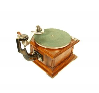 Near 1907 Victor II Phonograph w/Spear Tip Wood Horn Gorgeous 6
