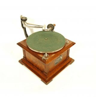 Near 1907 Victor II Phonograph w/Spear Tip Wood Horn Gorgeous 7