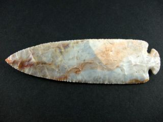 Fine Authentic 6 1/8 Inch Collector Grade 10 Ohio Dovetail Point Arrowheads 3