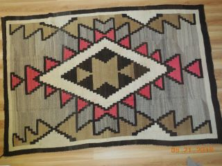 "Navajo Rug Or Blanket 76 "" X 51 "" Approximately 1920"
