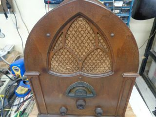Atwater Kent Model 84 Cathedral Radio (in As Built Cond)