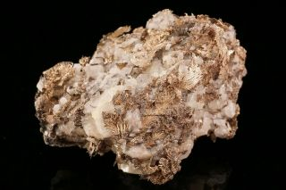 Unique Native Silver With Calcite Himmelsfurst Mine,  Germany - Ex.  Robertson