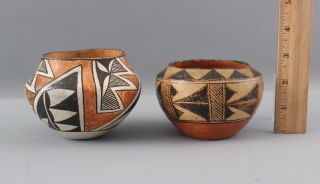 Small Antique Western Acoma,  Native American Indian Pottery Bowl,  Nr
