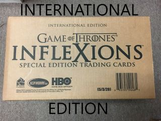 Game Of Thrones Inflexions 2019 International Factory 20 Box Hobby Case