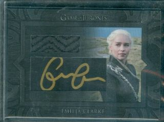 Game Of Thrones Inflexions Emily Clarke Archive Cut Autograph Card