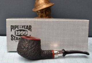 Top Stanwell Year Pipe 1999 Silver Design By Tom Eltang 9 Mm Filter