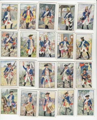 Military Age Of Frederick The Great Full Set 240 German Cig Cards Sturm 1932