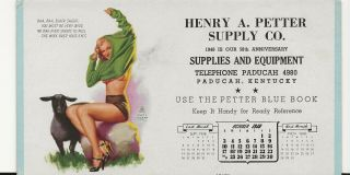 1948 Pin Up Girl Ink Blotter By Earl Moran Marilyn Monroe 625