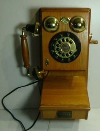 Thomas Collectors Edition Wall Phone Pp - 9 Push Button Country 1927 Oak