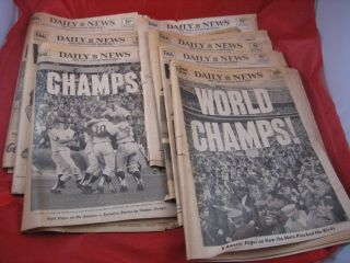 Vintage Ny Daily Newspapers (7) From 1969 Chronicling Ny Mets World Series Win