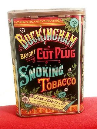 Buckingham Double Cut Vertical Pocket Tobacco Tin (very Rare) Minty