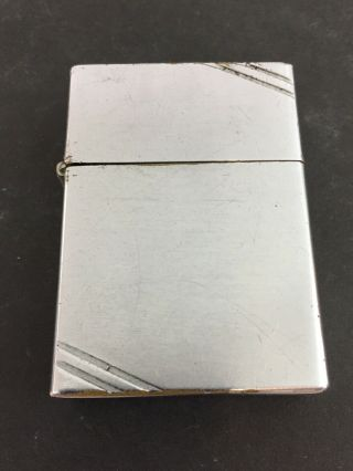 1938 - 41 Repaired Four Barrel Hinge Square Corners With Slash Marks Zippo Lighter
