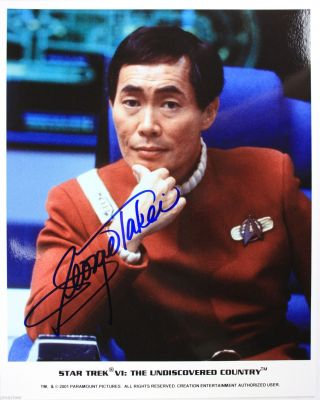 Autographed 8x10 - George Takei As Sulu In Star Trek Vi The Undiscovered Country