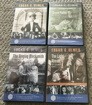 4 Yiddish Movie Dvds American Matchmaker Singing Blacksmith Green Fields,  Mib