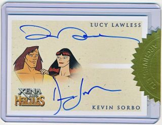 Xena & Hercules Animated Lucy Lawless & Kevin Sorbo Dual Autograph Incentive Qty