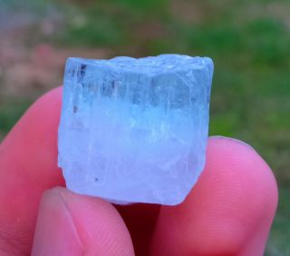 15.  30 Gr Rarest Natural Blue Aquamarine And Pink Morganite Combine Crystal