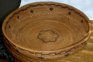 Antique Large Northern California Native American Mission Indian Basket 11 1/2 ""