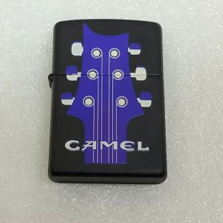 Vintage Camel Zippo Lighter Guitar Purple