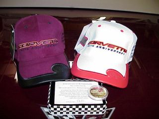 Corvette 50th Anniversary Limited Edition Matching Number 1149 Caps & Coin