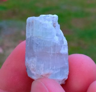 11.  88 Gr Rarest Natural Blue Aquamarine And Pink Morganite Combine Crystal