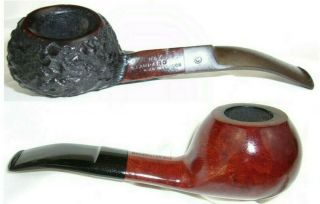 Estate Briar Pipes Set Of Two Vgc