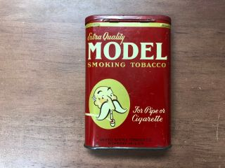 Vintage Model Extra Quality Pocket Tobacco Tin Pipe Or Cigarette Advertising