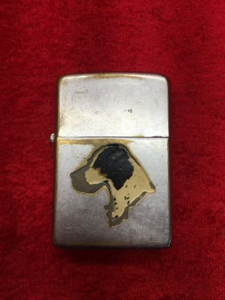 Rare Vtg Town & Country Zippo Lighter Dog - Patent 2032695 Great Order
