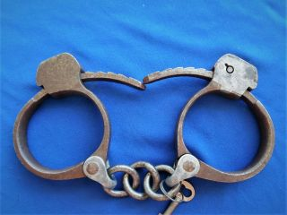 Antique Towers Detective Western Cowboy Sheriff Marshal Handcuffs Spurs W Key