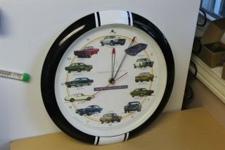 Vintage American Muscle Wall Clock - Engine Sound - Legends Of The Road