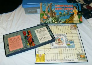Vintage 1937 Disney Snow White And The Seven Dwarfs Board Game - Complete & Exc