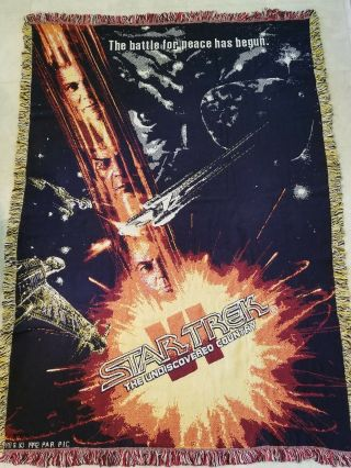 Star Trek Vi The Undiscovered Country Blanket,  Woven Throw,  Afghan