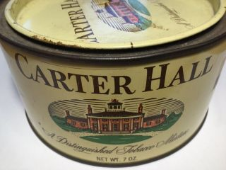 Antique/vintage Carter Hall Distinguished Mixture Tobacco Tin With Opener