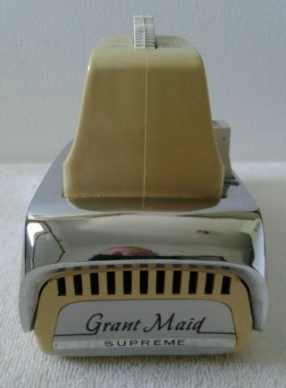 Vintage Grant Maid Supreme Electric Hand Mixer Model R - 6a Chrome Yellow