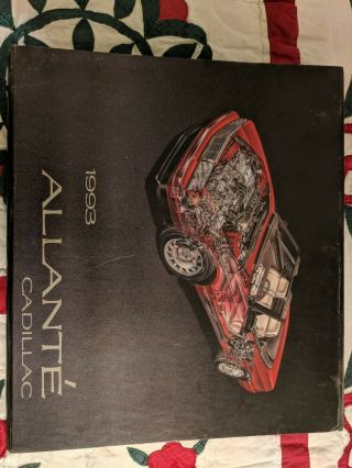 1993 Cadillac Allante Press Kit