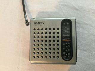Sony Solid State Transistor Radio Vintage No.  Tfm - 3750w
