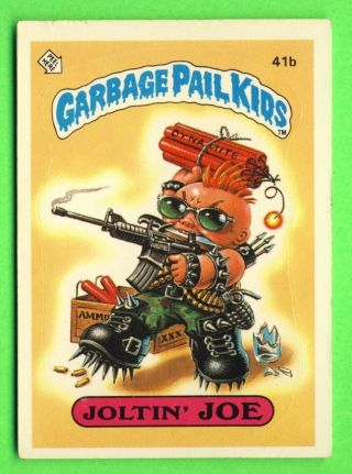 1985 Garbage Pail Kids Series 1 Card 41b Joltin