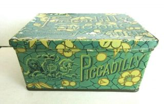 1897 Patent Piccadilly Smoking Tobacco Mixture Tin Rochester N.  Y.  Usa As Found
