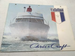 Color Equipment Ad Info Specs Chris Craft Boat Brochure 1971 Catalina Plans Clr