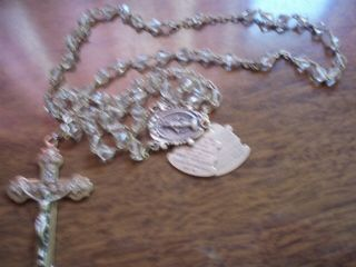 Rosary Catholic With Ten Commandents On It