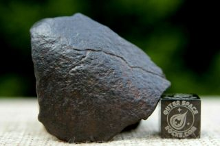 Nwa Unclassified Meteorite 17 Grams Windowed With Shape Metal & Chondrules