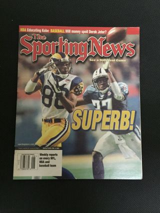 2000 Los Angeles Rams Bowl Champions Sporting News Newspaper.  Newsstand