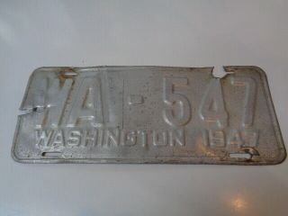 1947 Washington Wahkiakum County License Plate Very Rare County To Come By