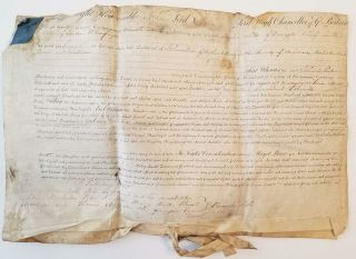 1815 George Iii Era Document Signed By John Scott 1st Earl Of Eldon Chancellor
