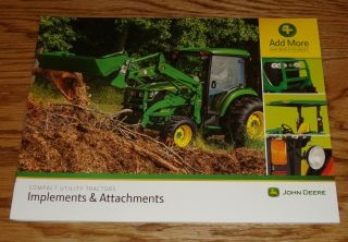 2014 2015 John Deere Compact Utility Tractor Implements & Attachments Brochure