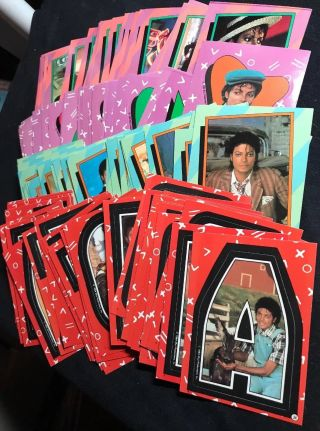 1984 Topps Michael Jackson Series 1 & 2 Trading Cards (66) & Stickers (66)