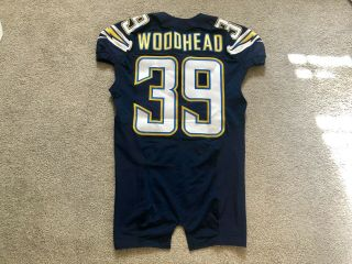 Danny Woodhead Road Game Worn San Diego Chargers Jersey 2014 La Patriots