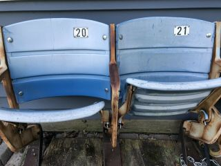 Old Yankee Stadium Seats,  Blue,  Set Of 2 - Ny Yankees